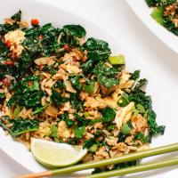 coconut oil recipes spicy thai stir fried kale with coconut and rice2