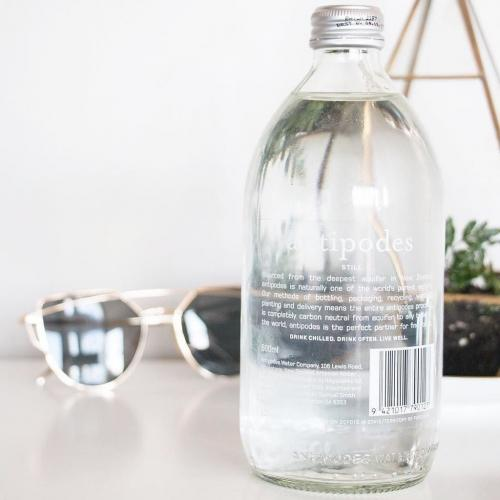 Antipodes water still drinking water wine compatible