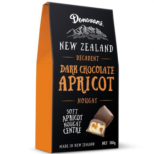 Donovans Dark Chocolate Apricot Visual New Zealand Chocolate Kiwi Importer