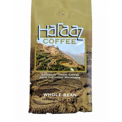 Haraaz coffea arabica roasted coffee whole bean peace