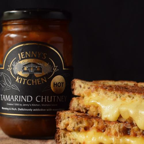 Tamarind Chutney hot on grilled cheese 2