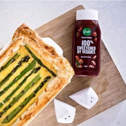 asparagus quiche with gaults tomato ketchup 2
