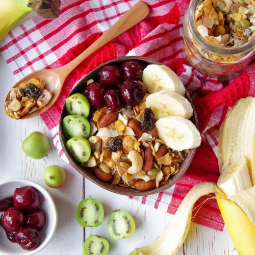 breakfast idea cashew cherry chia gluten free granola bowl something to crowabout 002
