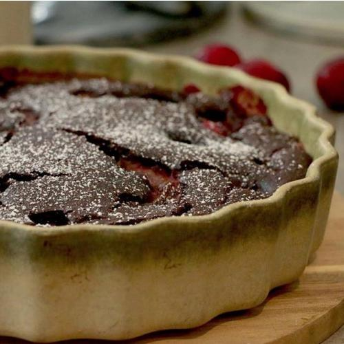 chocolate plum cobbler gluten free 2
