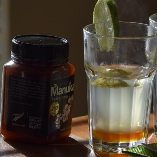 drinking manuka honey from The Kiwi Importer 2