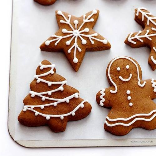 gingerbread people with peppermint extract