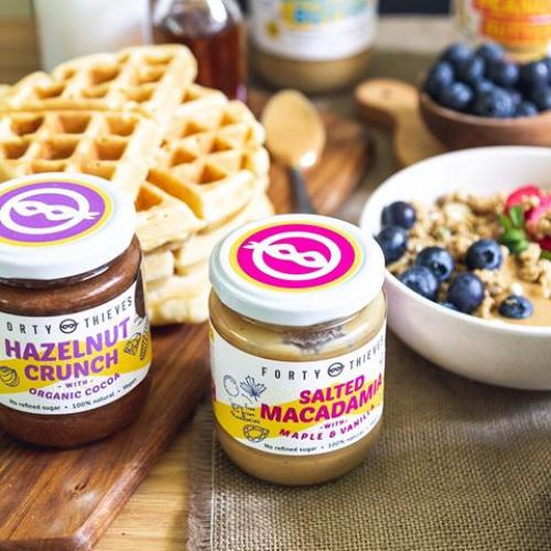 maca and hazel crunch with waffles