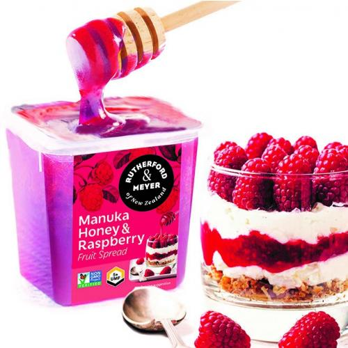 manuka honey and raspberry spread New Zealand food in the USA The Kiwi Importer