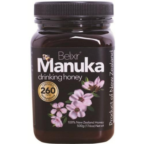 manuka honey mg 260 big jar drinking honey2