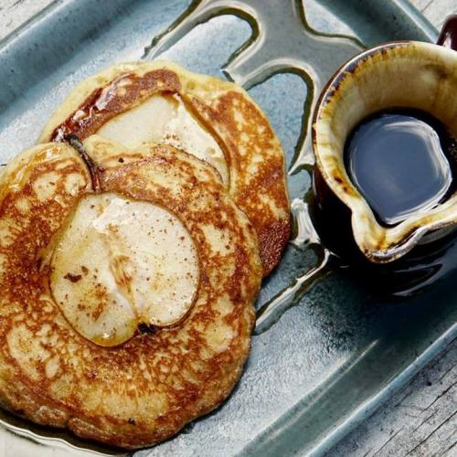 orange cinnamon and pear gluten free pancakes 2