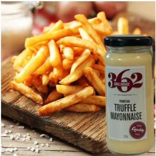 parmesan truffle mayo with fries