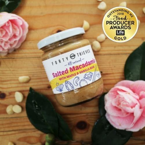 salted macadamia award winner
