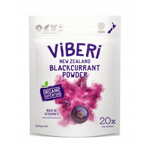 organic blackcurrant powder from New Zealand
